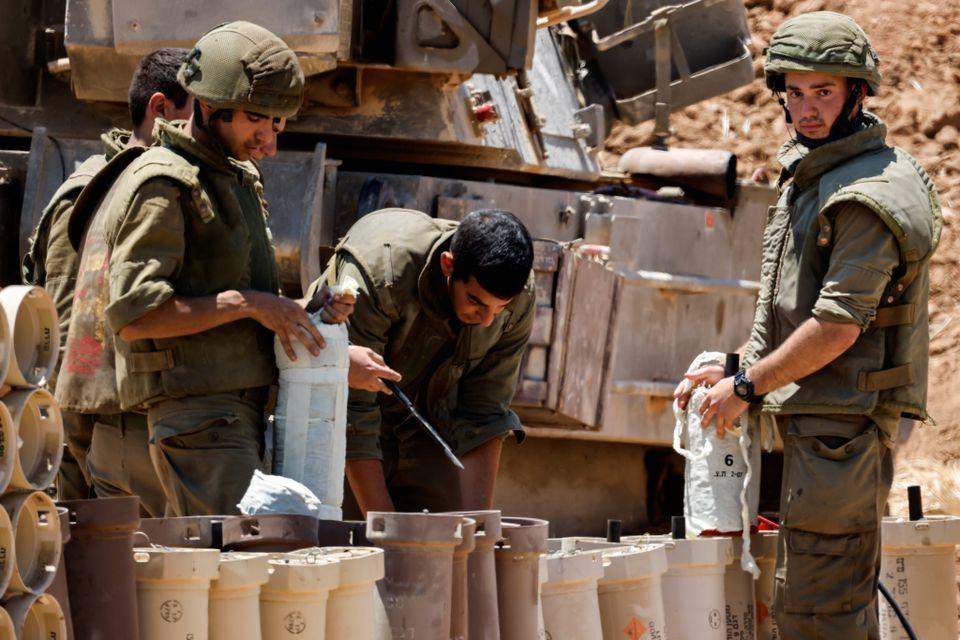 نیروهای اسرائیل در مرز غزه