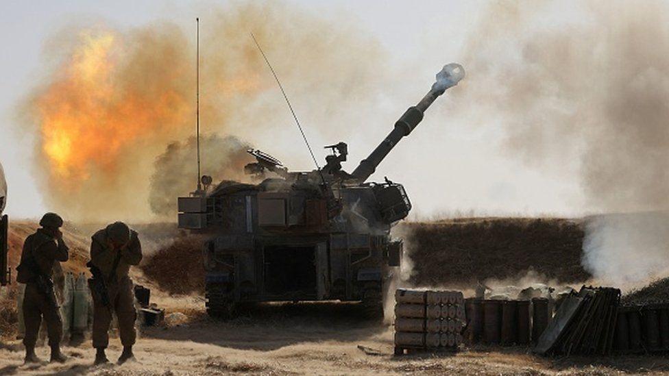استقرار نیروهای زمینی اسرائیل در مرز غزه