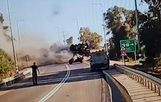 انهدام منزل نایب رئیس حماس/ پاسخ موشکی مقاومت و انهدام یک تانکبر