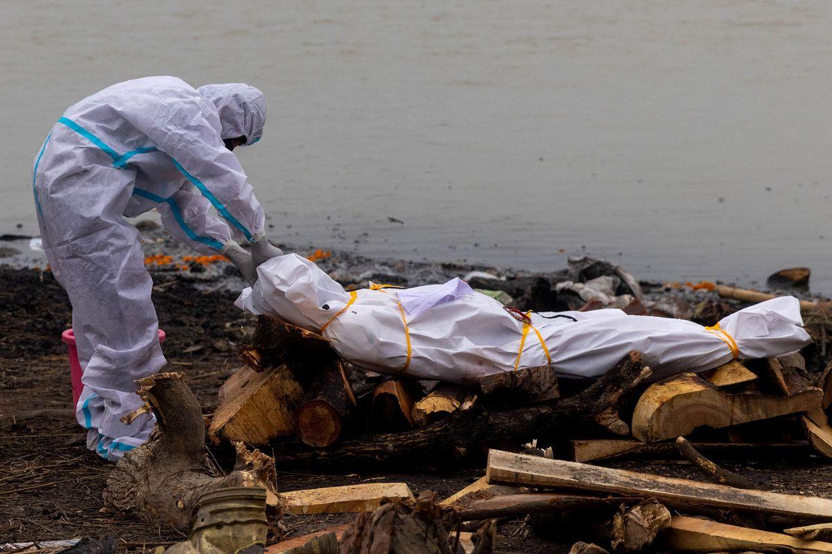 جنازه کرونایی در رودخانه هند