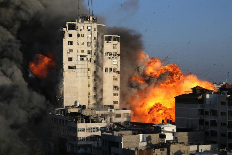 بمباران شهر غزه