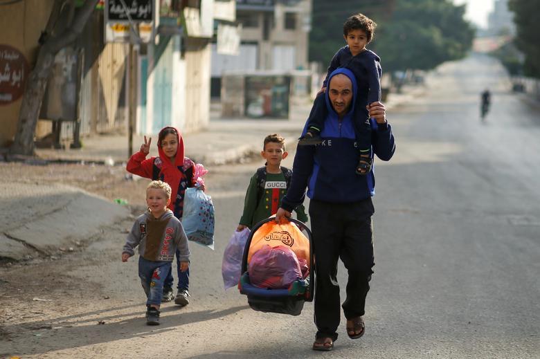 مردم آواره غزه پس از جنگ اسرائیل