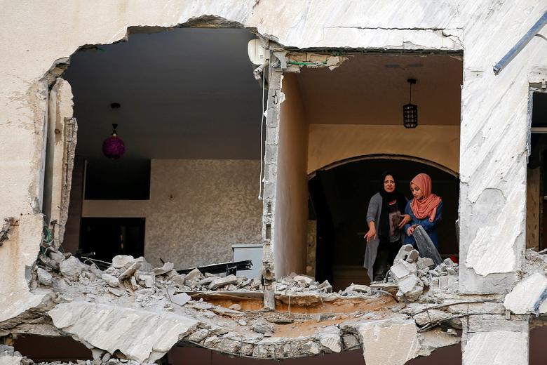 خانه های آوار شده مردم غزه