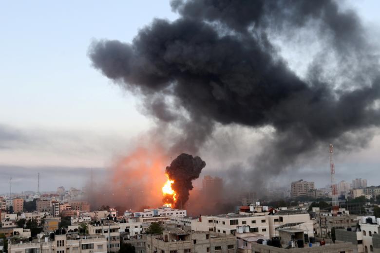 شهر جنگ زده غزه