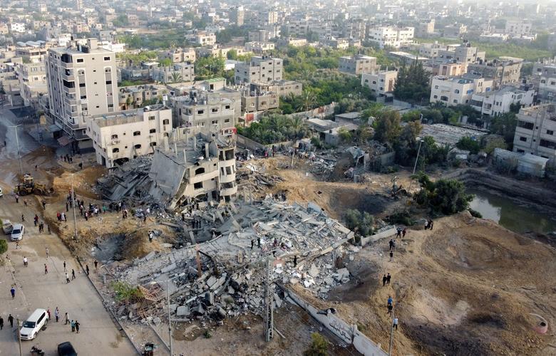 بخشهای اوار شده غزه پس ز بمباران اسرائیل