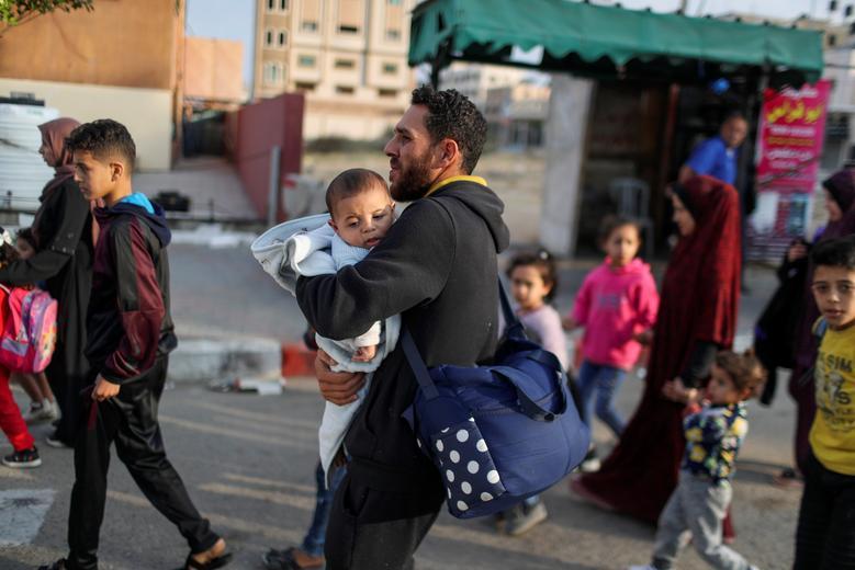 مردم آواره فلسطین در غزه