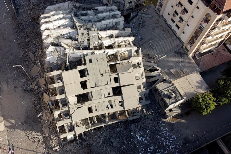 برج های آوار شده غزه پس از حملات اسرائیل
