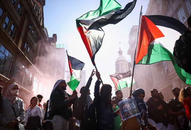 حمایت از غزه جنگ زدن در لندن