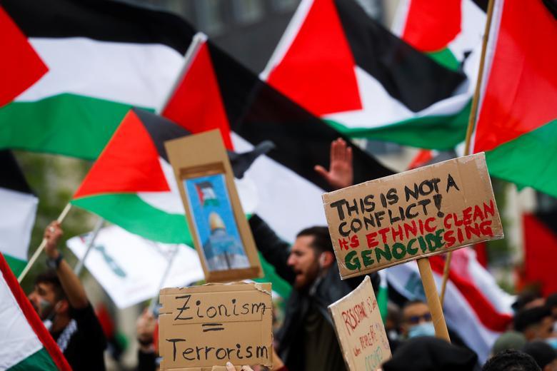 حامیان فلسطین در فرانکفورت