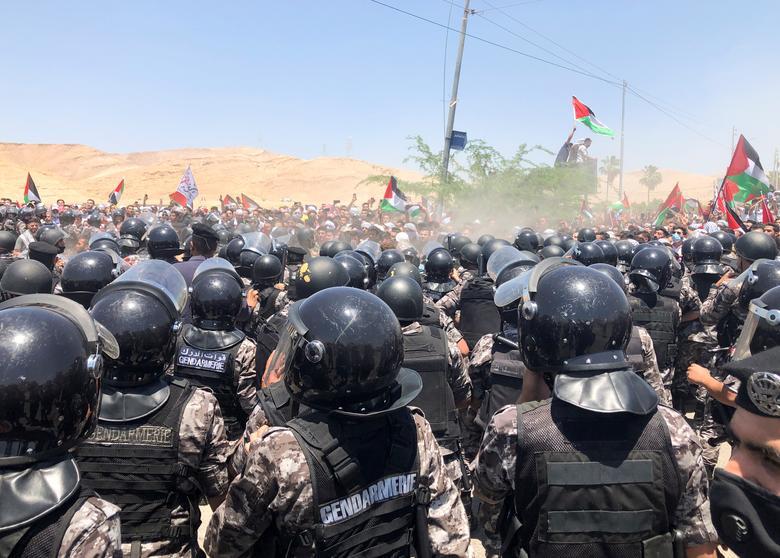 همسبتگی مردم کرامه اردن با مردم فلسطین
