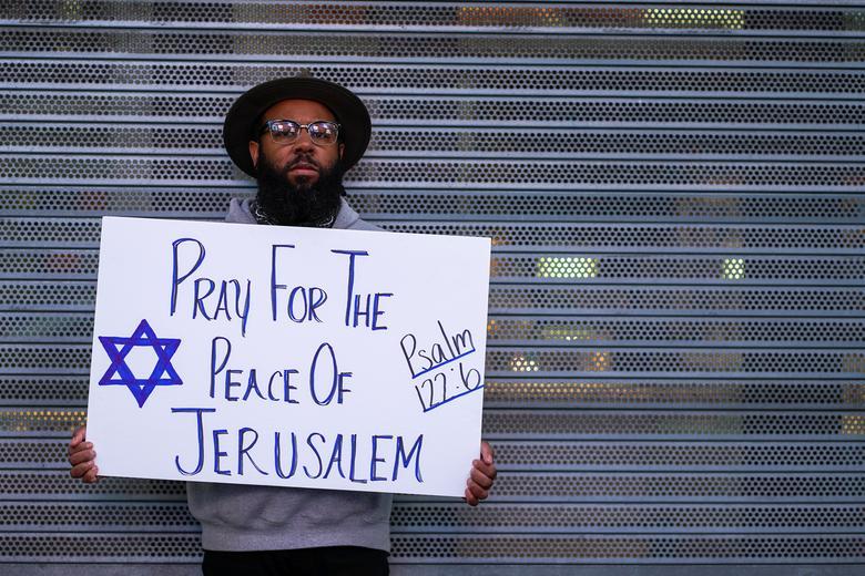 طرفدار اسرائیل در میدان نیویورک