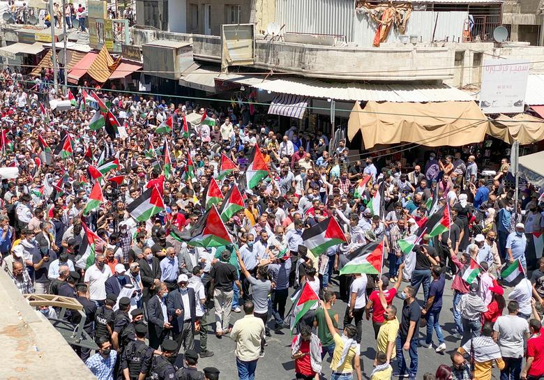 حامیان فلسطین در پایتخت اردن