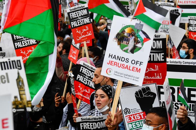 تظاهرات حامیان فلسطین در لندن