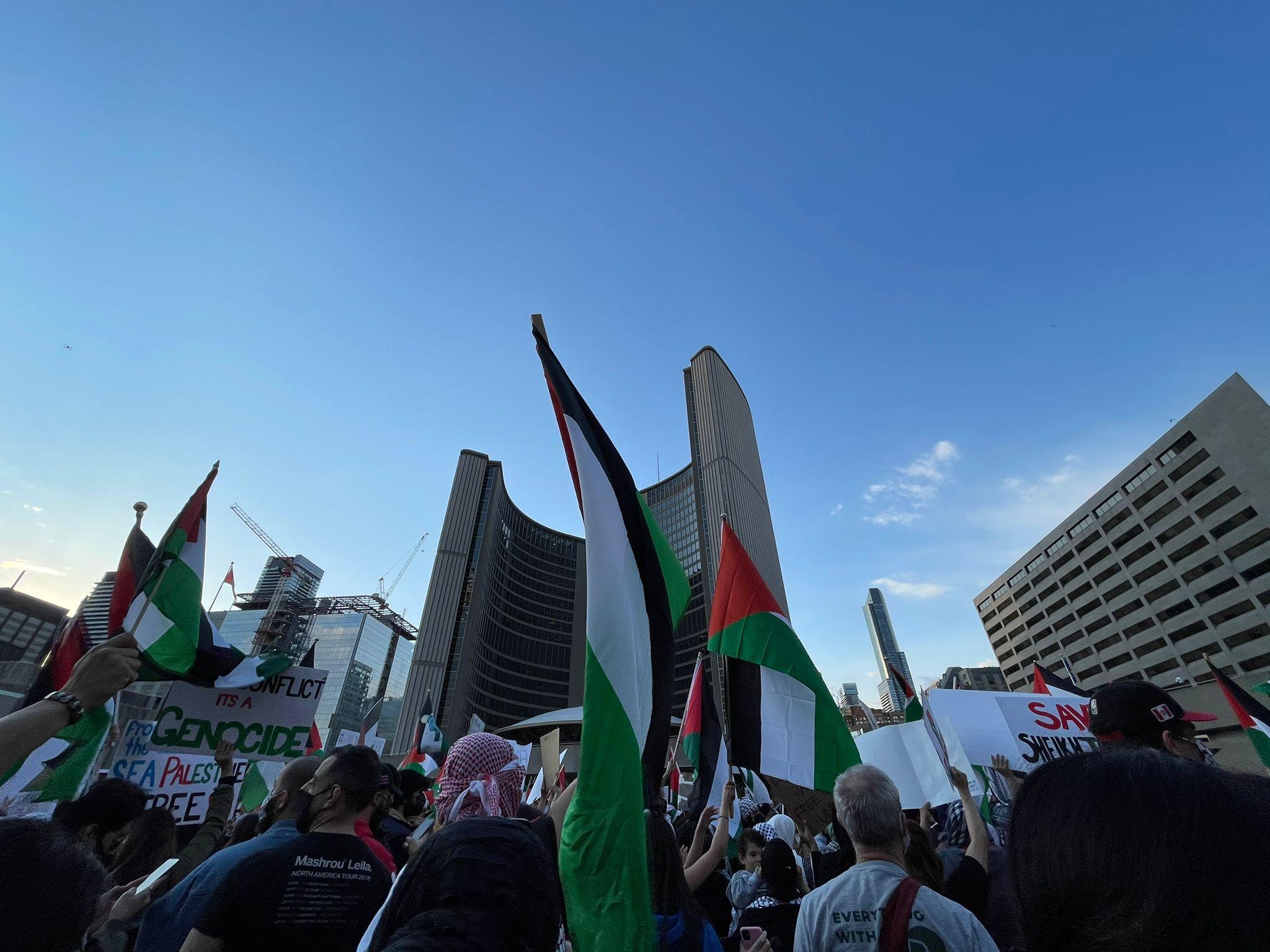 حمایت مردم تورنتو از  غزه