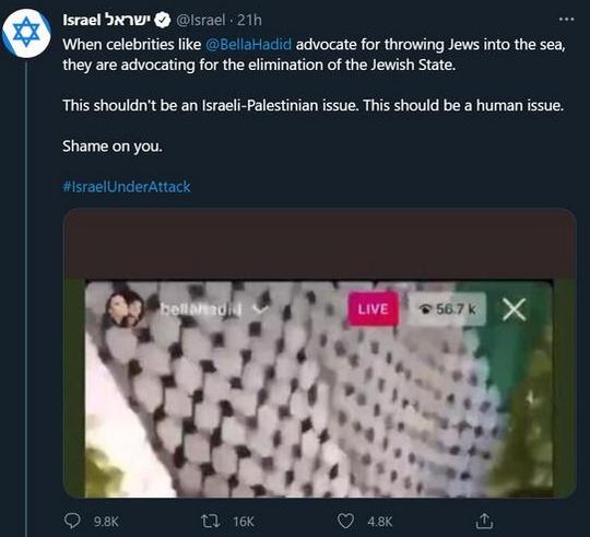 حمله دولت اسراییل به مدل آمریکایی به خاطر شرکت در تظاهرات ضد اسراییلی