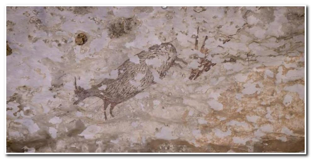 تغییرات اقلیمی در حال نابودی نقاشی سنگی 40000 ساله (+عکس)