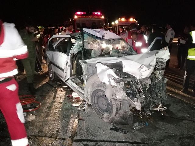 ۲ کشته در تصادف جاده اهواز - هفتکل
