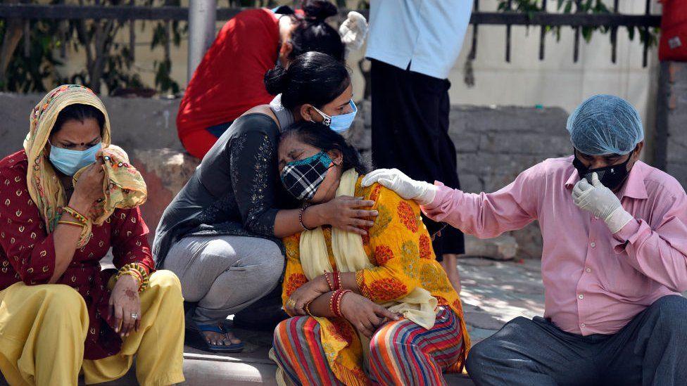 خانواده قربانیان کرونای هندی