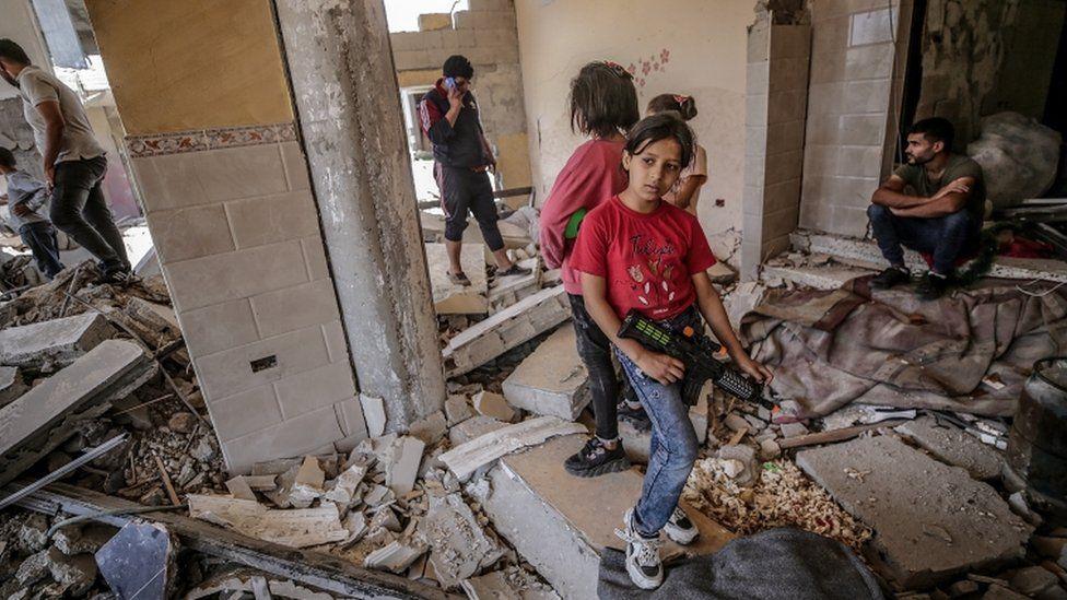 خانه اوار شده ساکنان غزه