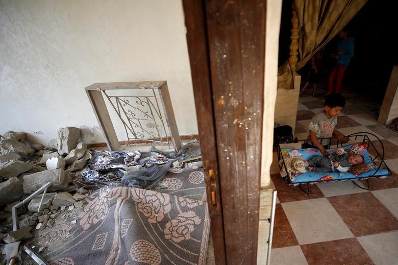 خانه اوار شده در غزه