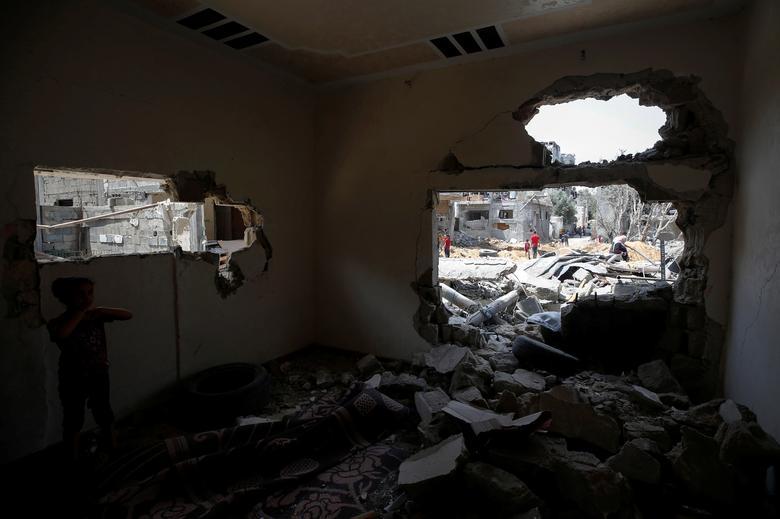 خانه ویران شده در غزه