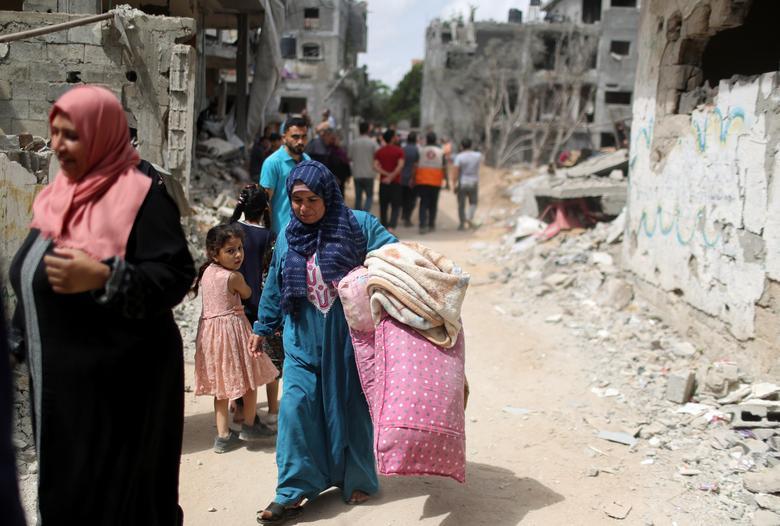 بازگشت فلسطینیان به خانه های اوار شده