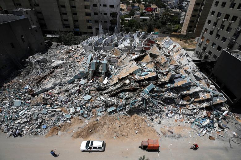 اثار بمباران اسرائیل در غزه
