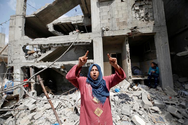 خانه اوار شده یک زن قلسطینی