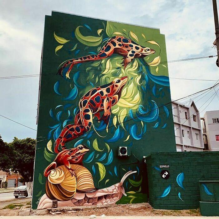 نقاشی هایی که سیمان و آجر را زنده می کنند! (+عکس)