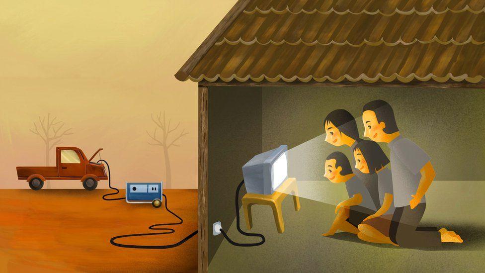 کره شمالی برق تلویزیون را از خودرو  میگیرد