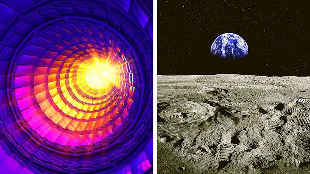 توانایی خارقالعاده تولید انرژی یک برخورد دهنده هادرونی در کره ماه