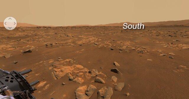 ثبت نمایی ۳۶۰ درجه از مریخ (+عکس)