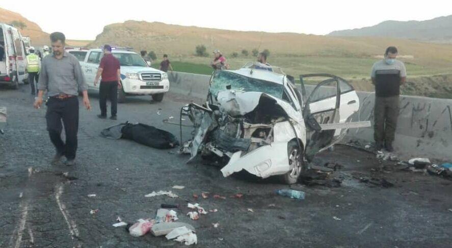 4 کشته در تصادف پژو 405 و پراید در خراسان شمالی