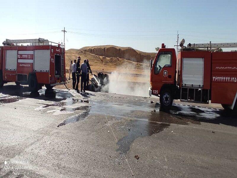 4 کشته در تصادف جاده شوشتر- مسجدسلیمان