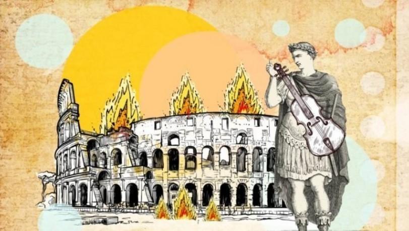 ویولون نوازی نرون در هنگام سوختن روم