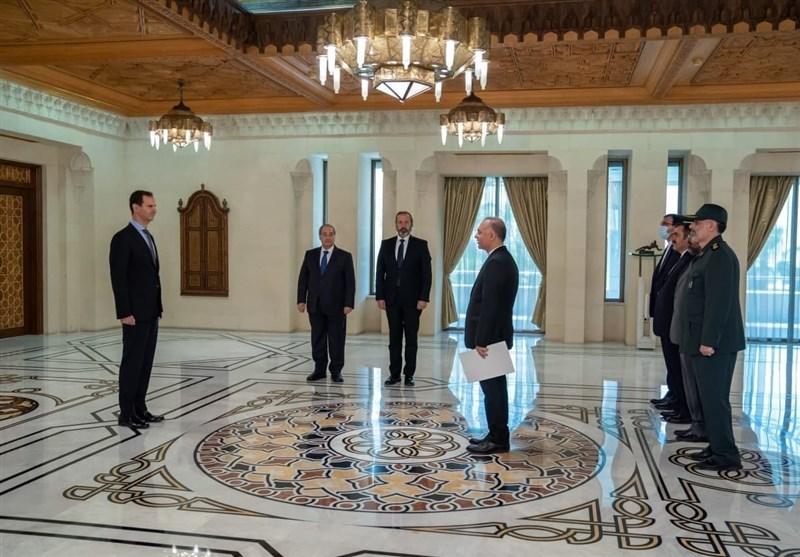 تقدیم استوارنامه سفیر جدید ایران به بشار اسد (عکس)