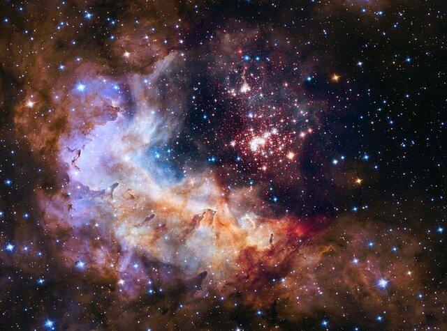 شکار یک خوشه ستارهای توسط تلسکوب فضایی هابل