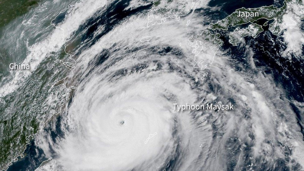 طوفان میساک در حول کره شمالی