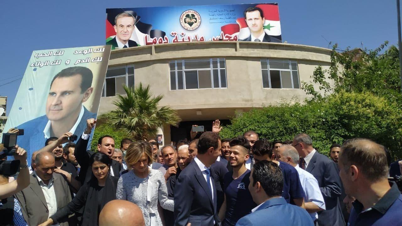 بشار اسد در حوزه انتخابات ریاست جمهوری