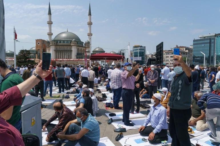 افتتاح مسجد در استانبول ترکیه