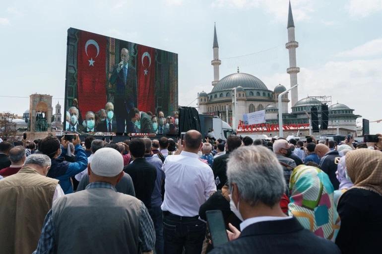 اردوغان در  افتتاحیه مسجد