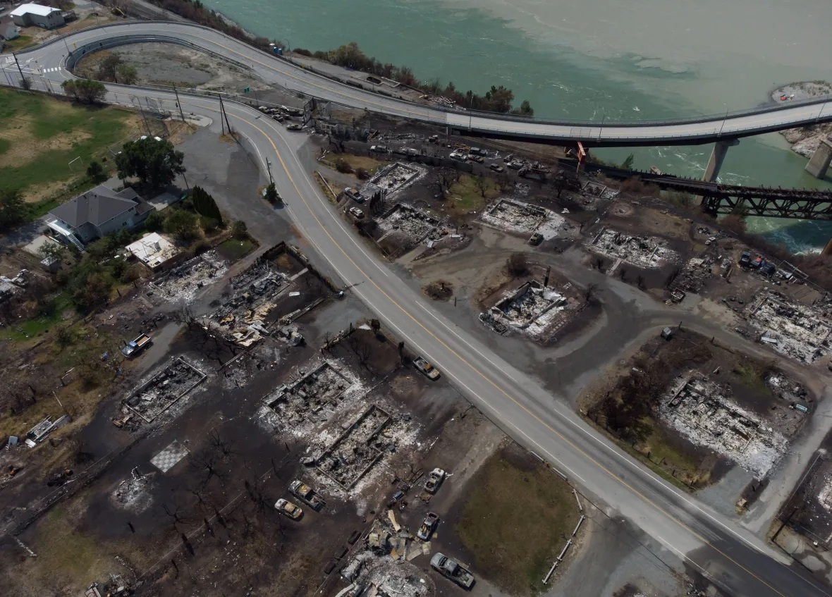 تصاویر هوایی از شهر سوخته لیتون کانادا