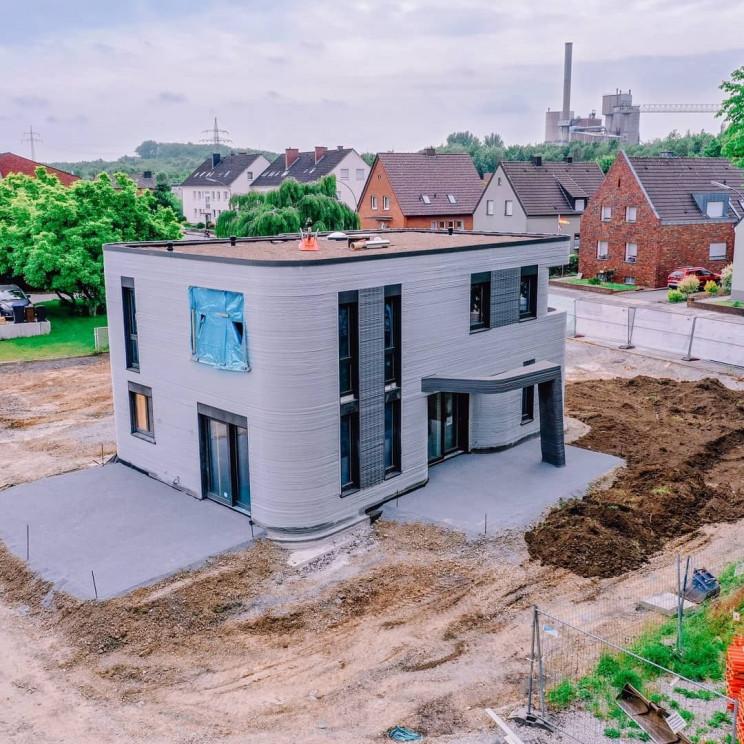 مراحل پایانی ساخت نخستین خانه چاپ سه بعدی شده آلمان