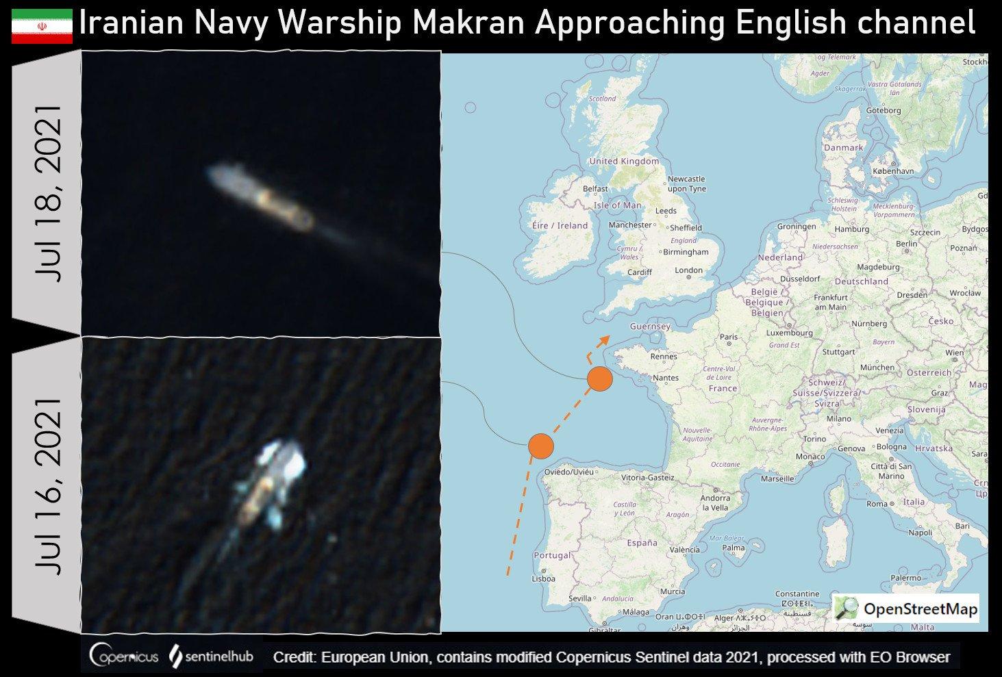 دو کشتی جنگی ایرانی در سواحل بریتانیا رسیدند (+عکس)