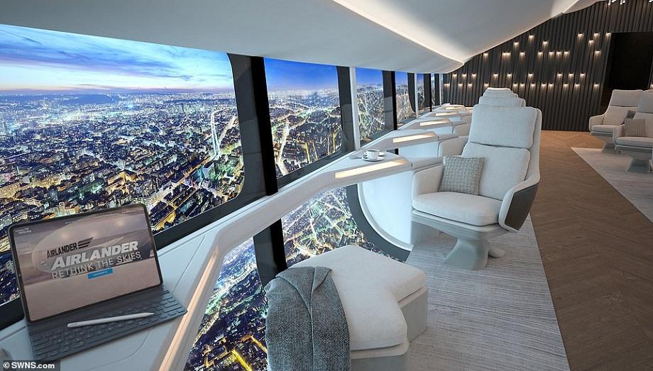 انتشار تصاویری از فضای داخلی ایرلندر 10، بزرگترین کشتی هوایی جهان