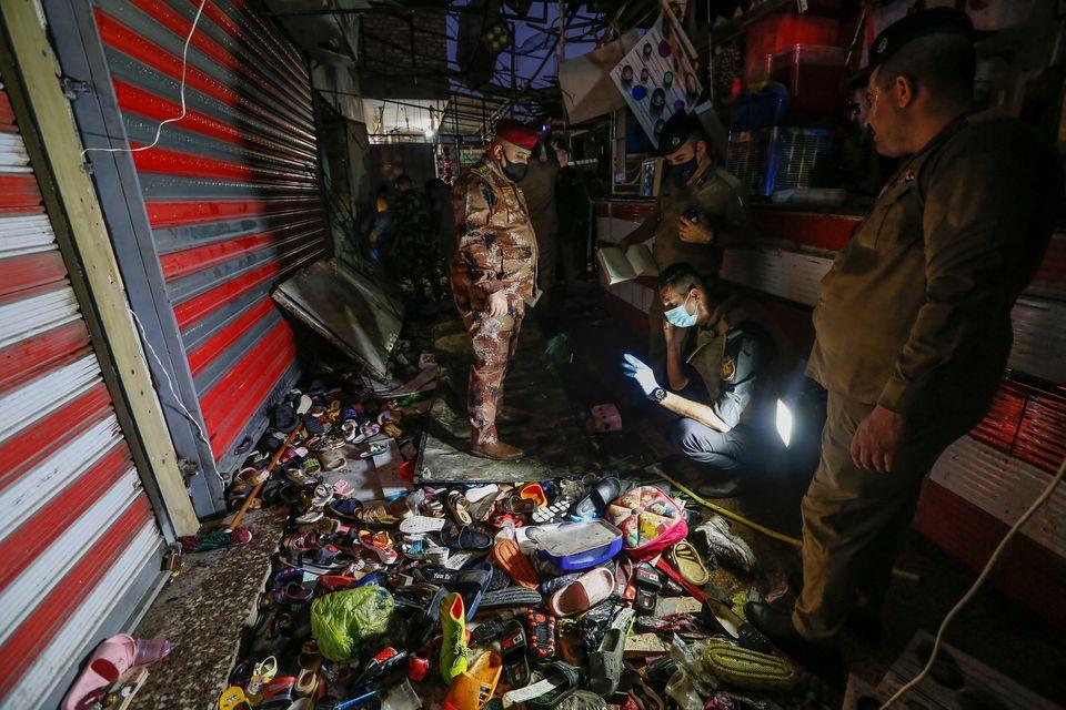 بازار منفجر شده عراق
