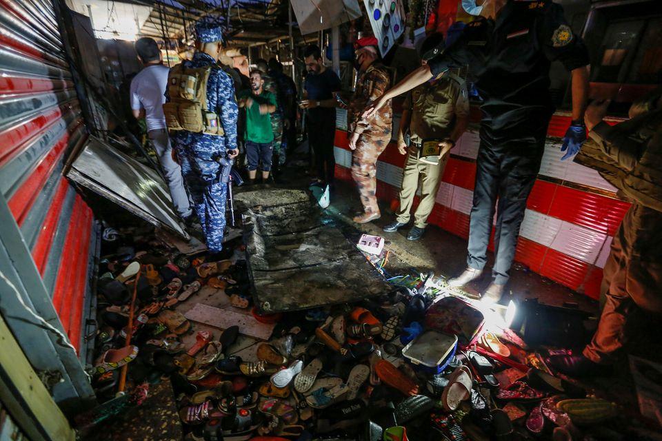 بازار منفجر شده عشهرک صدر بغداد