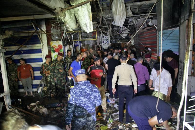 بازار منفجر شده بغداد
