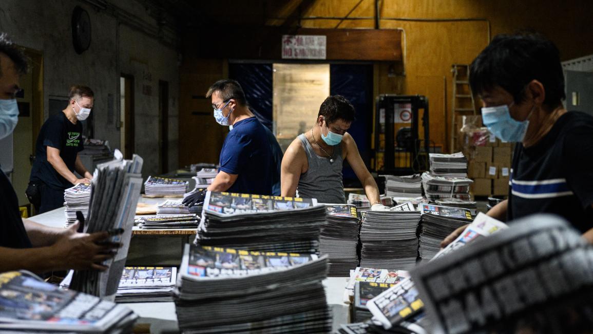 تعطیلی روزنامه دموکراسی خواهان هنگ کنگ با فشار چین