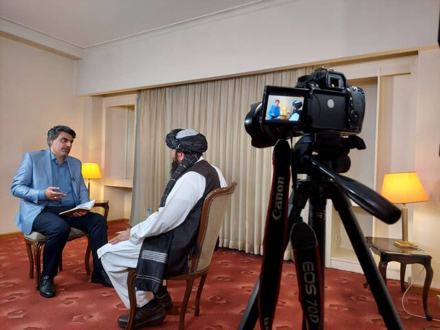 مصاحبه صداوسیما با یکی از رهبران طالبان